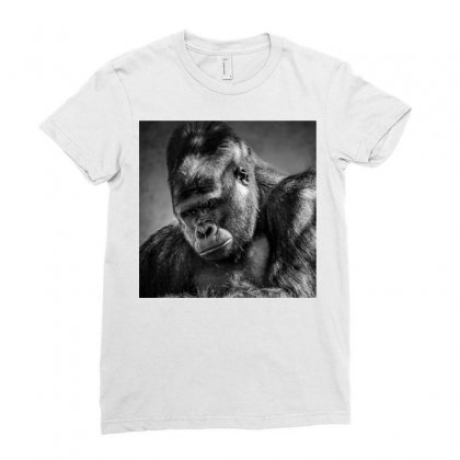 Gorilla Ladies Fitted T-shirt Designed By Vj575789