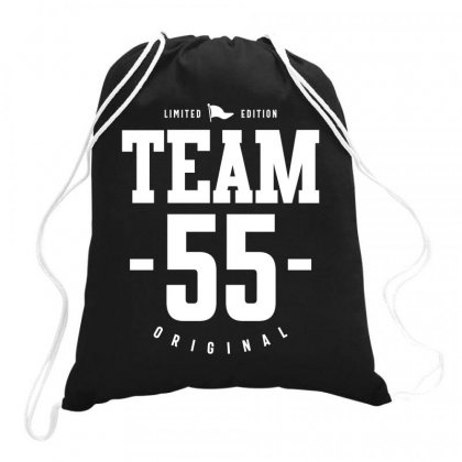 55 Year Old - 55th Birthday Funny Gift Drawstring Bags Designed By Cidolopez