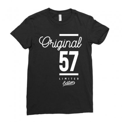 57 Year Old - 57th Birthday Funny Gift Ladies Fitted T-shirt Designed By Cidolopez