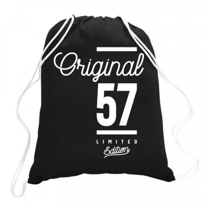 57 Year Old - 57th Birthday Funny Gift Drawstring Bags Designed By Cidolopez