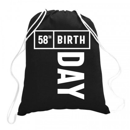 58 Year Old - 58th Birthday Funny Gift Drawstring Bags Designed By Cidolopez
