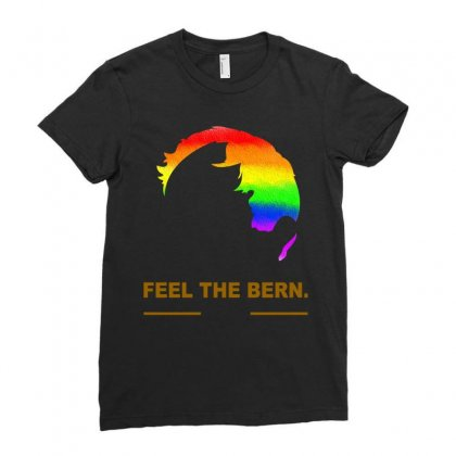 Bernie Sanders Ladies Fitted T-shirt Designed By Butterfly99
