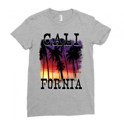 California Sunset Ladies Fitted T-shirt Designed By Sengul