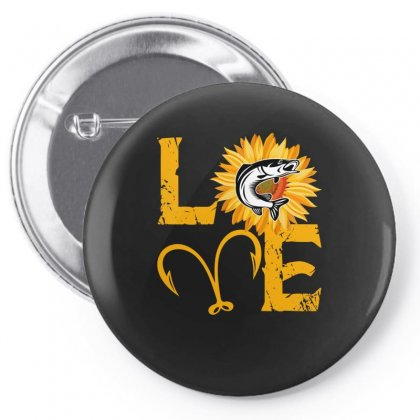 Love Fisher Pin-back Button Designed By Sengul