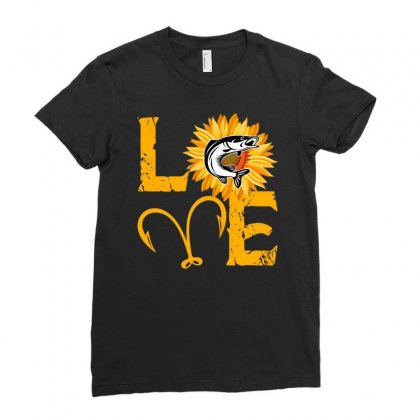 Love Fisher Ladies Fitted T-shirt Designed By Sengul