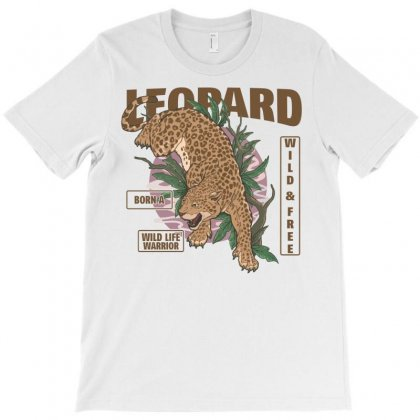 Leopard Wild And Free T-shirt Designed By Neset