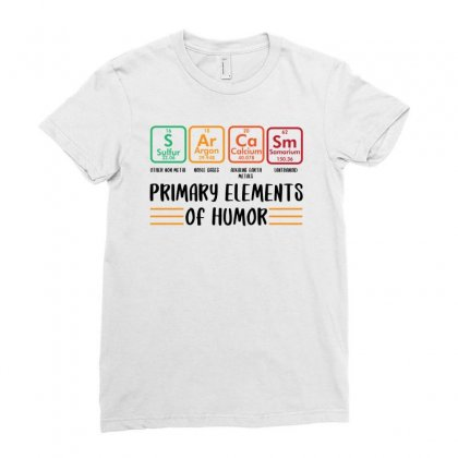 Primary Elements Of Humor For Light Ladies Fitted T-shirt Designed By Sengul