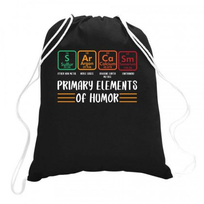 Primary Elements Of Humor For Dark Drawstring Bags Designed By Sengul