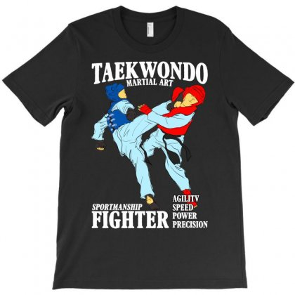 Taekwondo Martial Art For Dark T-shirt Designed By Neset
