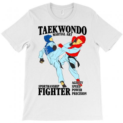 Taekwondo Martial Art For Light T-shirt Designed By Neset