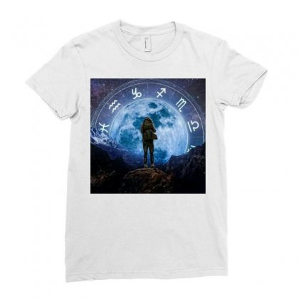 Horoscope Ladies Fitted T-shirt Designed By Vj575789