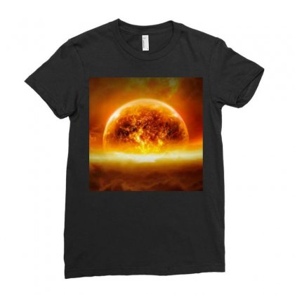 Earth End Ladies Fitted T-shirt Designed By Vj575789