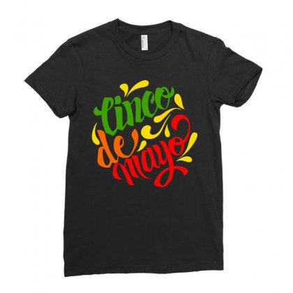 Cinco De Mayo Ladies Fitted T-shirt Designed By Designisfun