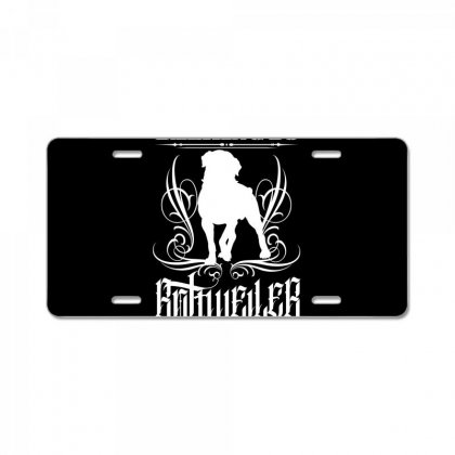 I'm Only Talking To My Rottweiler Today License Plate Designed By Tiococacola