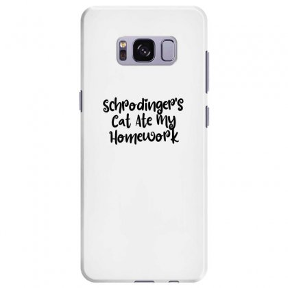 Schrodinger's Cat Ate My Homework Samsung Galaxy S8 Plus Case Designed By Thebestisback