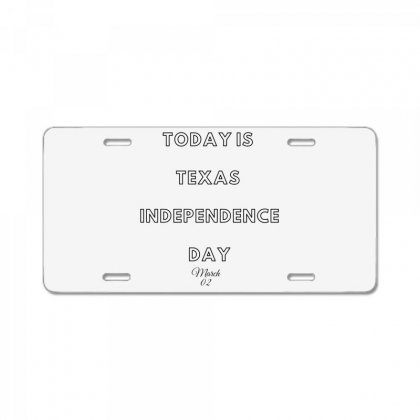 Today Is Texas Idependence Day License Plate Designed By Mr.meed