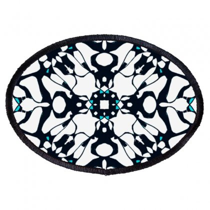 Black Snowflake Oval Patch Designed By Lyrielll
