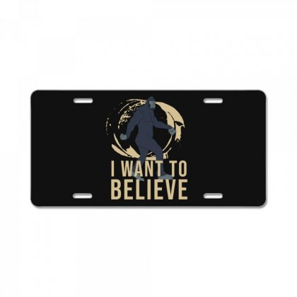 I Want To Believe License Plate Designed By Cypryanus