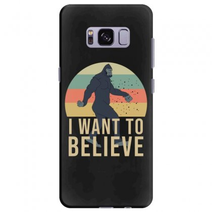 I Want To Believe - Bigfoot Gifts Samsung Galaxy S8 Plus Case Designed By Cypryanus