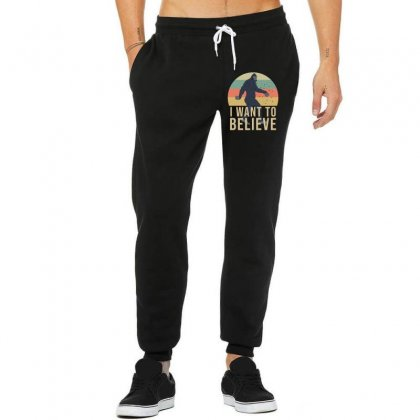 I Want To Believe - Bigfoot Gifts Unisex Jogger Designed By Cypryanus