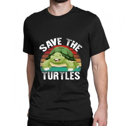 Save The Turtles Shirt Classic T-shirt Designed By Faical