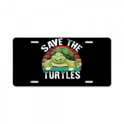 Save The Turtles Shirt License Plate Designed By Faical