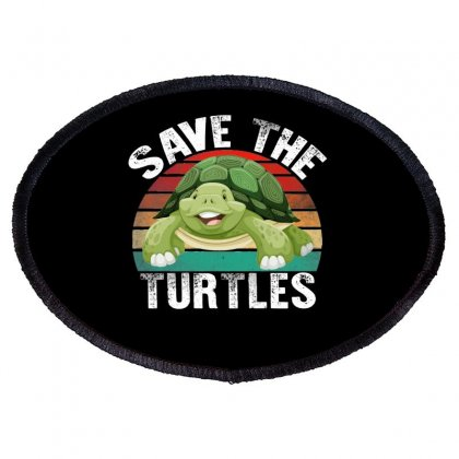 Save The Turtles Shirt Oval Patch Designed By Faical