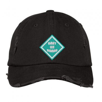 Baby On Board Distressed Cap Designed By Madhatter