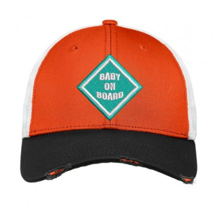 Baby On Board Vintage Mesh Cap Designed By Madhatter