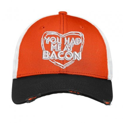 You Had Me At Bacon Vintage Mesh Cap Designed By Madhatter