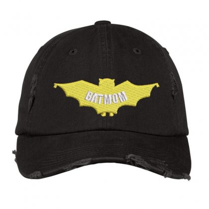 Bat Mom Distressed Cap Designed By Madhatter