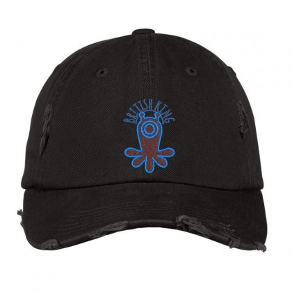 British King Distressed Cap Designed By Madhatter