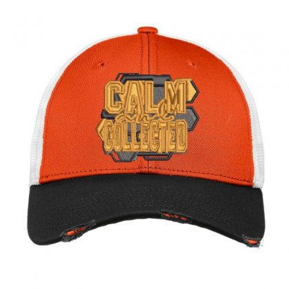 Calm Collected Vintage Mesh Cap Designed By Madhatter