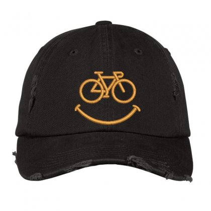 Happy Cycle Distressed Cap Designed By Madhatter