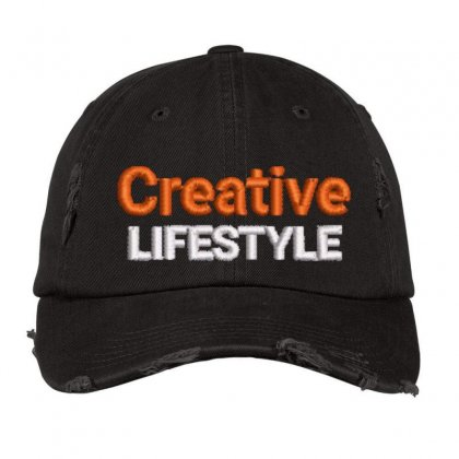 Creative Lifestyle Distressed Cap Designed By Madhatter