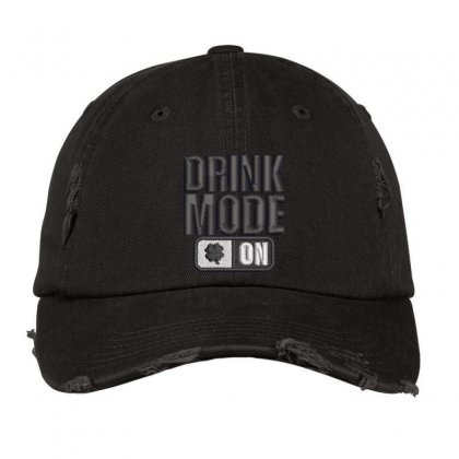 Drink Mood On Distressed Cap Designed By Madhatter