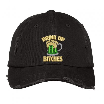 Drink Up Distressed Cap Designed By Madhatter