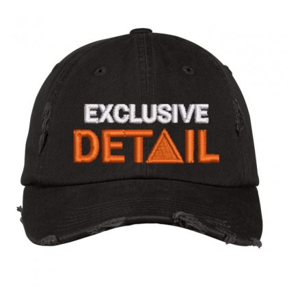 Exclusive Detail Distressed Cap Designed By Madhatter