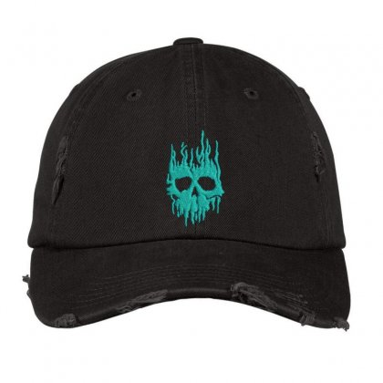 Skull Distressed Cap Designed By Madhatter