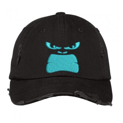Angry Face Distressed Cap Designed By Madhatter