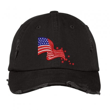 America Flag Distressed Cap Designed By Madhatter