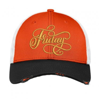 Happy Friday Vintage Mesh Cap Designed By Madhatter