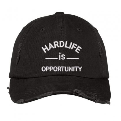Hard Life Distressed Cap Designed By Madhatter