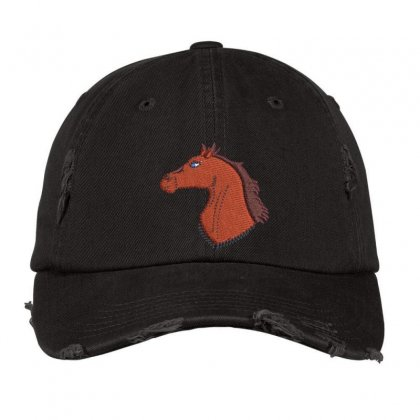 Horse Distressed Cap Designed By Madhatter