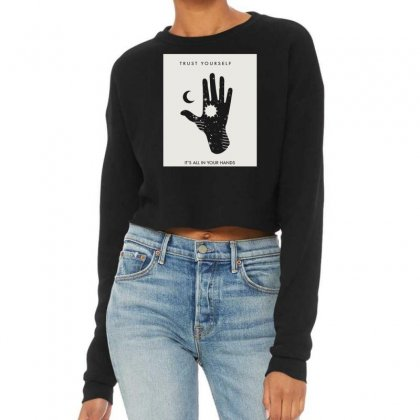 Trust Yourself Cropped Sweater Designed By Ronyliza