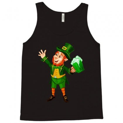 St Patricks Day Green Beer Leprechaun Tank Top Designed By Ninja Art