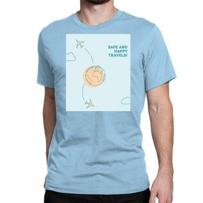 Happy With Travel ٠٣٣٧١٠ Classic T-shirt Designed By Ronyliza