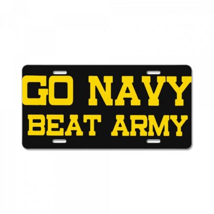 Go Navy Beat Army License Plate Designed By Ninja Art