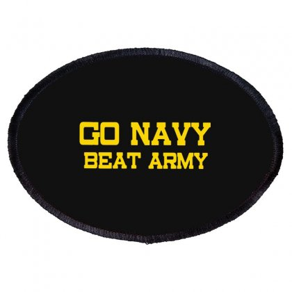 Go Navy Beat Army Oval Patch Designed By Ninja Art