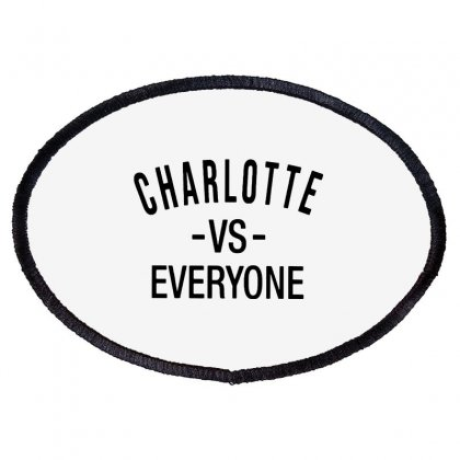 Charlotte Vs Everyone Black Style Oval Patch Designed By Ninja Art